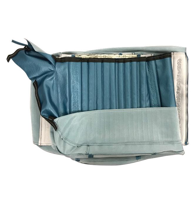 (1971-72)  Seat Kit-Bench w/Scroll, Blue