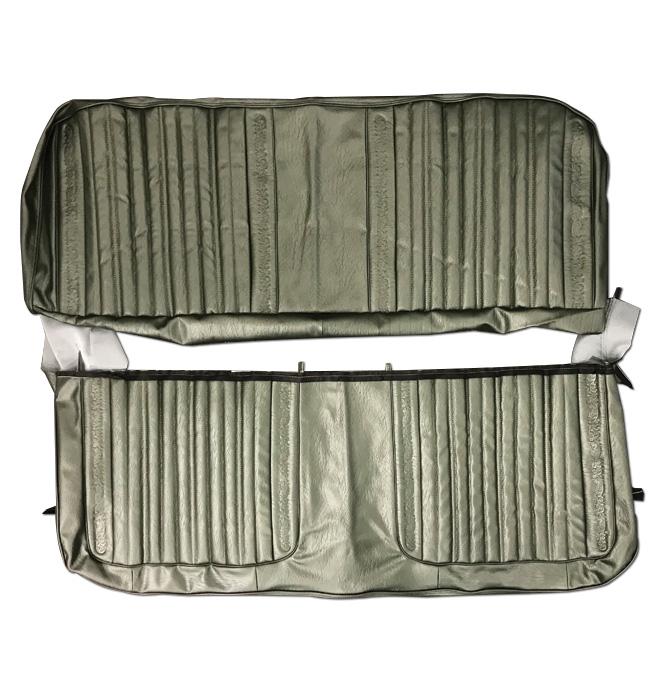 (1971-72)  Seat Kit-Bench w/Scroll, Green
