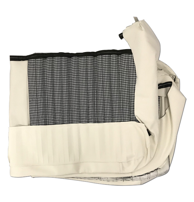 (1971-72)  Seat Kit-Bench w/Hound,  White/White