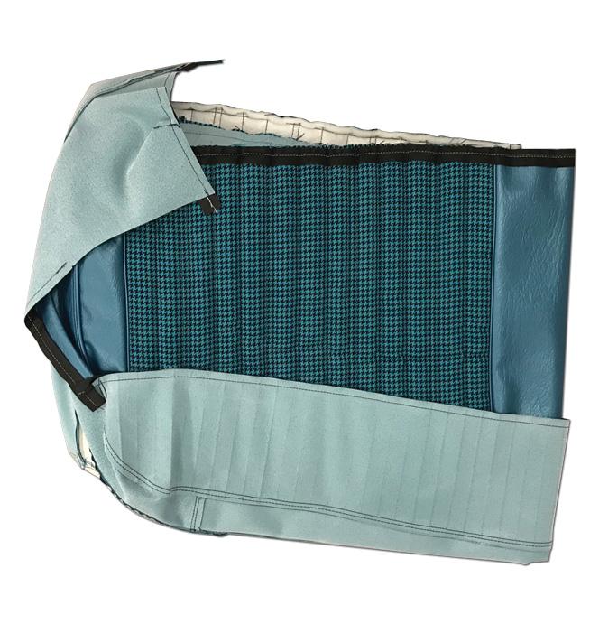 (1971-72)  Seat Kit-Bench w/Hound Blue/Blue