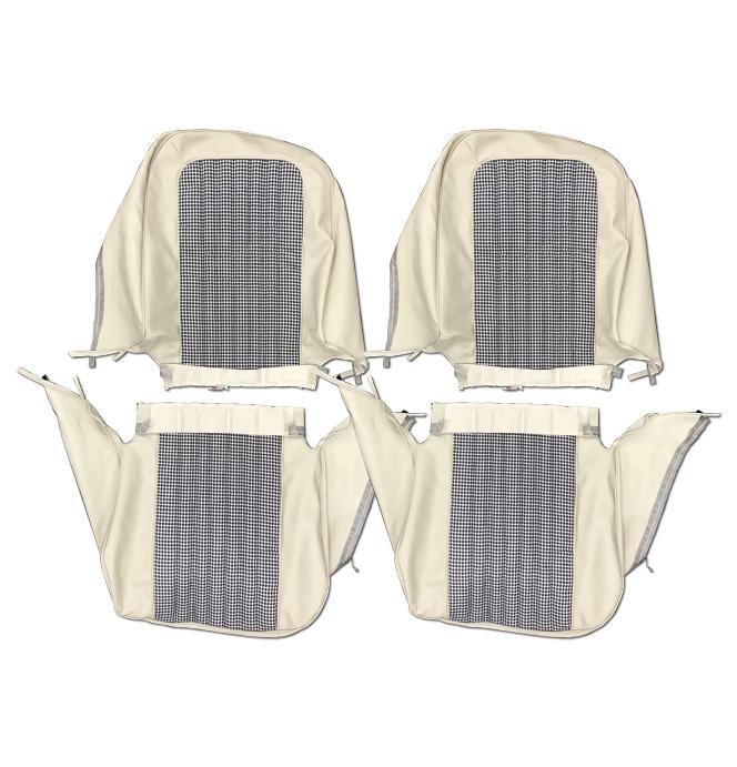 (1971-72)  Seat Kit-Bucket w/Hound White/Off White