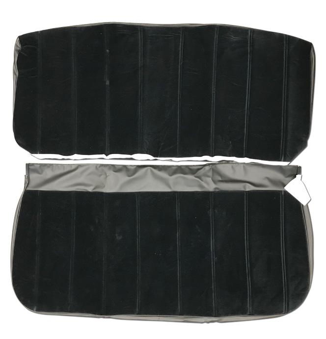 (1973-80)  Seat Cover Kit-Velour-Black-Bench Seat