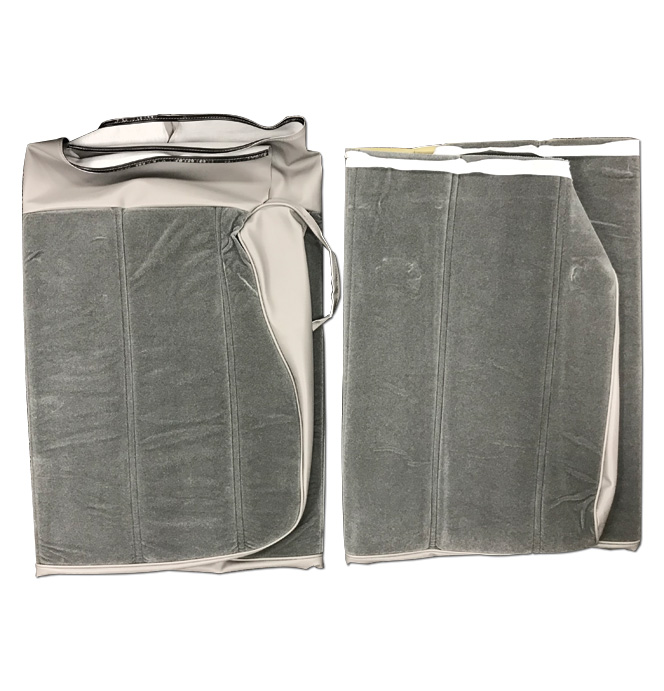 (1981-87)  Seat Cover Kit-Velour-Gray-Bench Seat