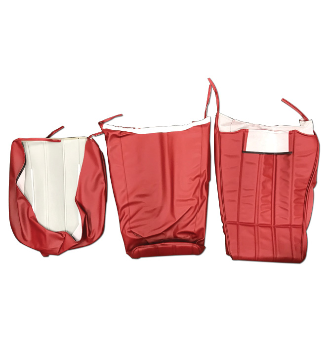 (1973-85)  Seat Cover Kit-Vinyl-Red-High Back Bucket Seats