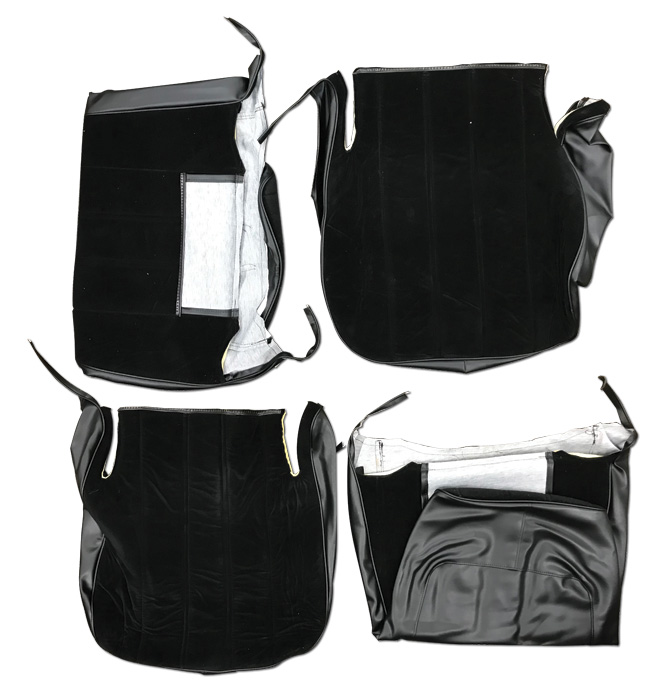 (1973-85)  Seat Cover Kit-Velour-Black-High Back Bucket Seat