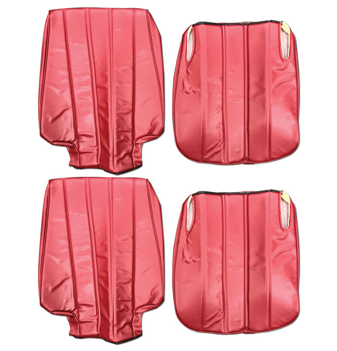 (1974-80)  Seat Cover Kit-Vinyl-Red-Low Back Bucket Seats