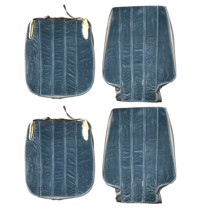 (1974-80)  Seat Cover Kit-Velour-Blue-Low Back Bucket Seats