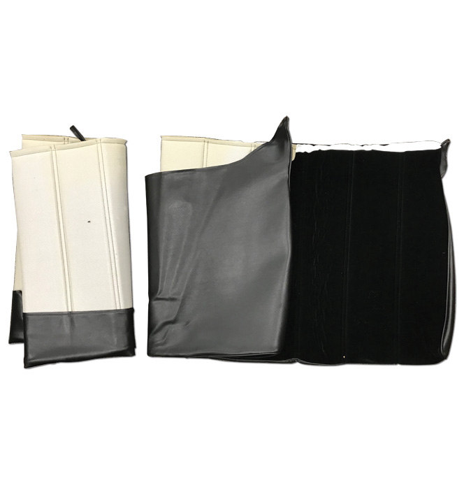 (1974-77)  Seat Cover Kit - Velour-Black-Rear Bench Seat