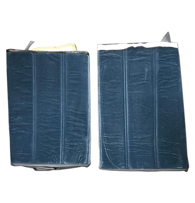 (1974-77)  Seat Cover Kit -Velour-Blue-Rear Bench Seat