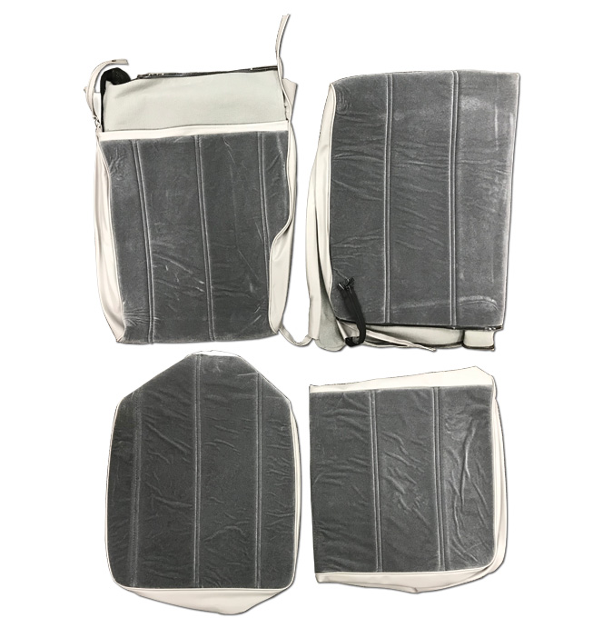 (1974-87)  Seat Cover Kit -Velour-Gray-Middle Bench Seat