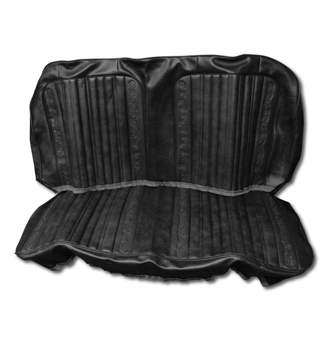 (1971-72)  Seat Kit - Rear Blazer - w/Scrolls - Black