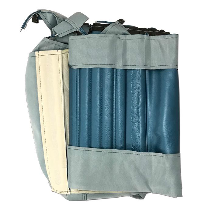(1971-72)  Seat Kit - Rear Blazer - w/Scrolls - Blue