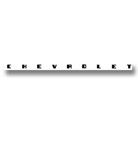 (1947-51)  Dash Decal-Chevrolet-Black