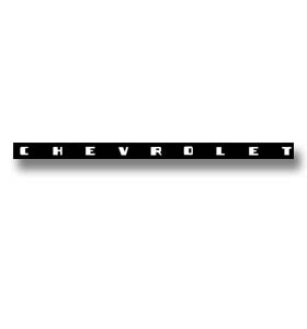 (1952-53)  Dash Decal-Chevrolet-White