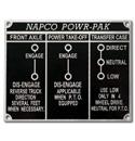 (1954-59)  Napco Metal Dash Plate