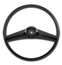 (1969-72)  Steering Wheel - Black - Original Size