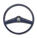 (1969-72)  Steering Wheel - Dark Blue - Original Size
