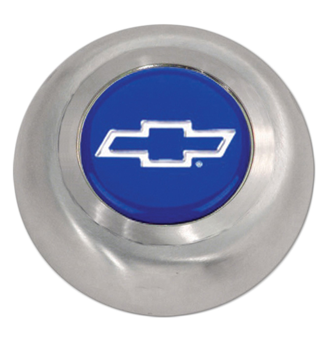 (1941-94)  Horn Button-Bowtie Brushed Stainless