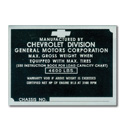 (1942-46)  Door Post ID Plate - Chevrolet