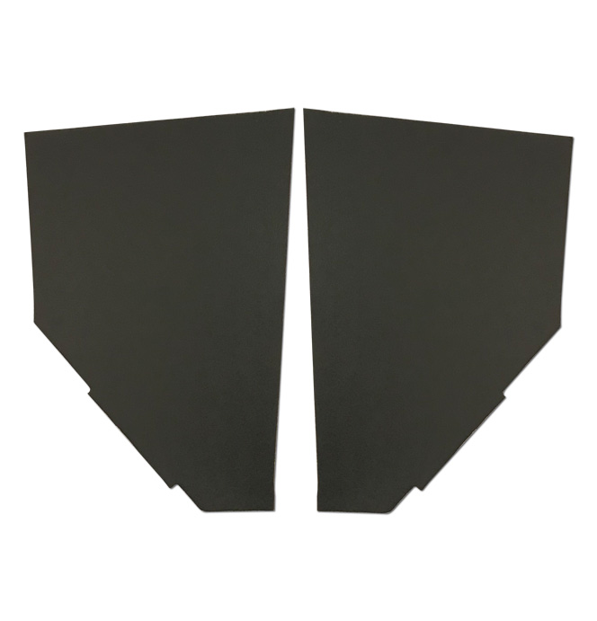 (1936-38) Cardboard Kick Panels - pr - Black