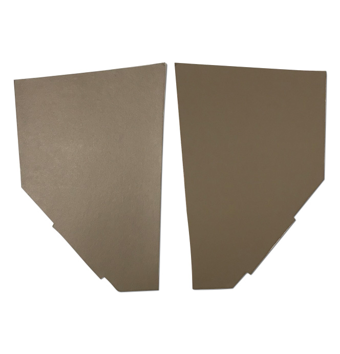 (1936-38) Cardboard Kick Panels - pr - Brown