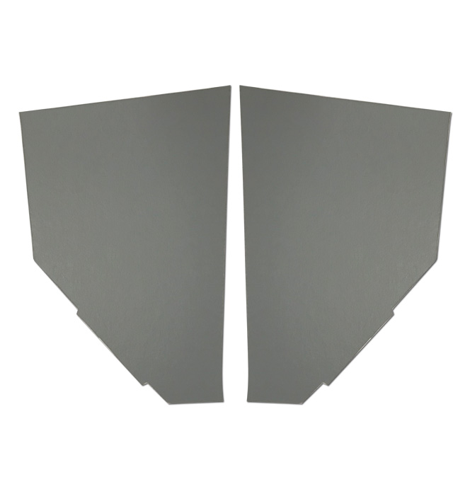 (1936-38) Cardboard Kick Panels - pr - Gray