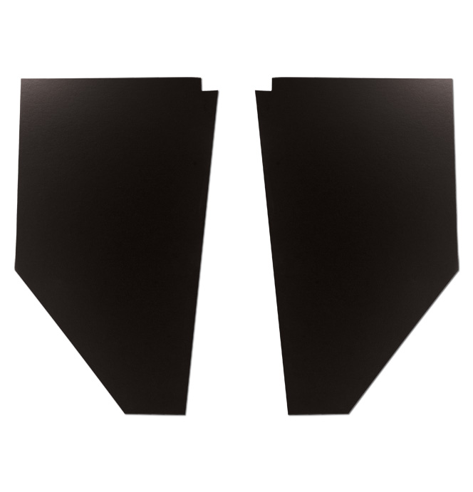 (1939-46) Cardboard Kick Panels - pr - Black