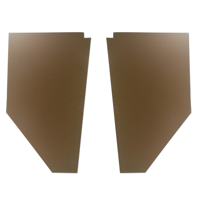 (1939-46) Cardboard Kick Panels - pr - Brown