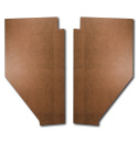 (1947-54) Cardboard Kick Panels - pr - Brown