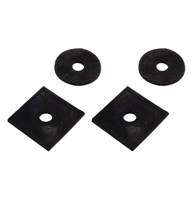 (1942-46)  Inner Fender Mount Pads Lower Rear
