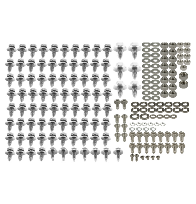 (1947-54) Front Clip Bolt Kit - Bare Stainless