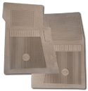 (1947-98)  Bow Tie Rubber Floor Mats - 2pc Front - Tan
