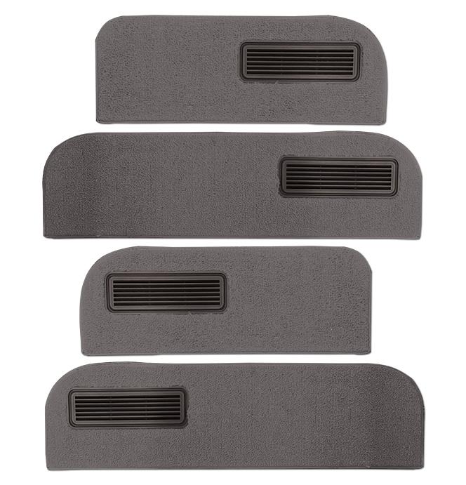 (1973-74)  Carpeted Door Bottom Covers-Gray-Loop