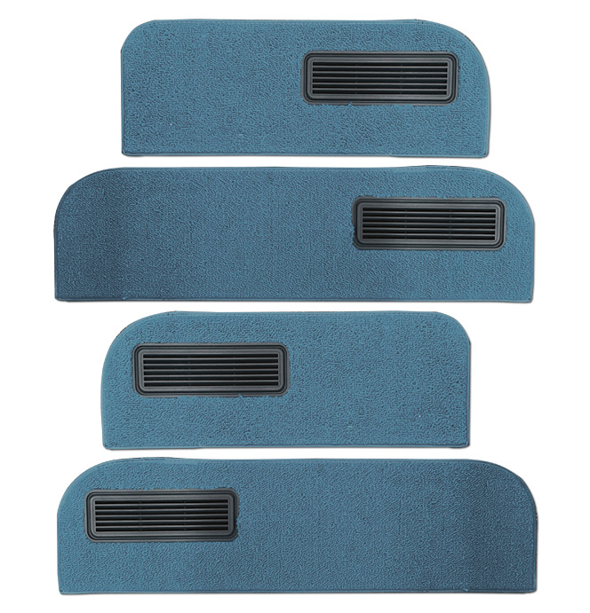 (1973-74)  Carpeted Door Bottom Covers-Blue-Loop
