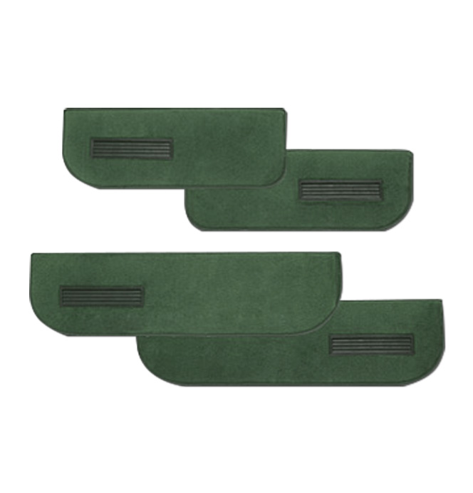 (1975-87)  Carpeted Door Bottom Covers-Green-Cut Pile