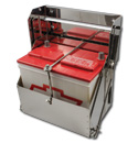 (1934-72) Drop-Out Battery Box - Stainless