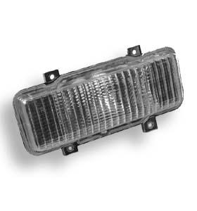 (1980)  Parklamp Housing Assembly-Right-w/Chrome Grill