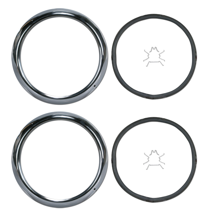 (1947-54) Headlamp Rims - Pair