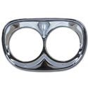 (1958-59)  Headlamp Rims -pair