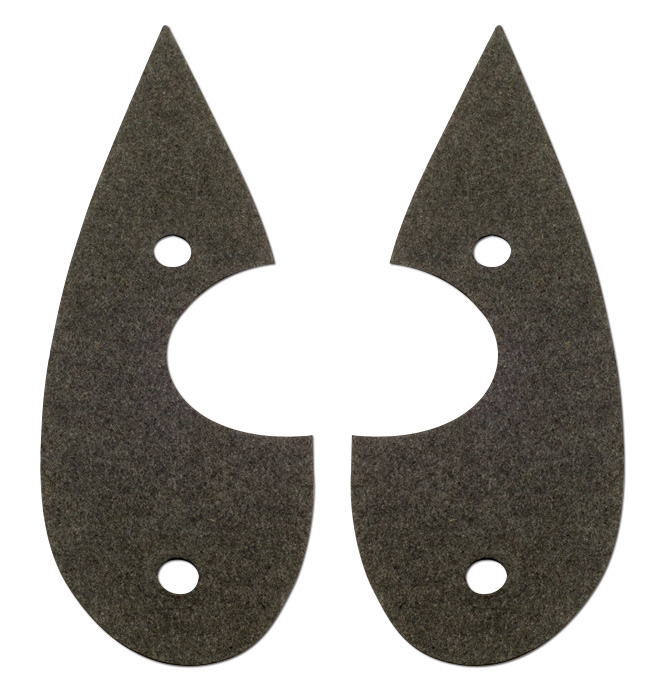 (1938)  H/L Stand to Radiator Housing Gaskets-pair