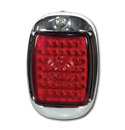 (1941-53)  LED Taillamp Assembly-Painted-R-Plastic Red Lens