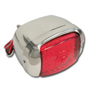 (1941-53)  LED Taillamp Assembly-Chrome-R-Plastic Red Lens