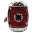 (1941-53)  LED T/L Assembly-Stainless - Left - Red W/Blue Dot