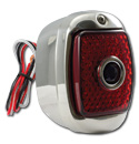 (1941-53)  LED T/L Assembly-Stainless-R-Red W/Blue Dot
