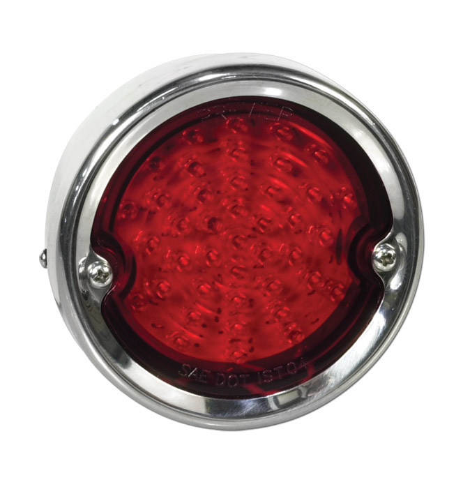 (1956-59)  LED Taillamp Assembly-Stainless-Red Lens