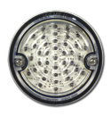 (1960-66)  LED Taillamp Assembly-Stainless-Clear Lens