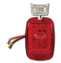 (1941-53)  LED Taillamp & License Lens-Plastic Red Sequential