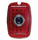 (1941-53)  LED Taillamp Lens-Plastic Red-Blue Dot