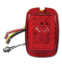 (1941-53)  LED Taillamp Lens-Plastic Red Sequential