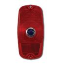 (1960-66)  Taillamp Lens-Fleet w/o Bowtie-Red W/Blue Dot